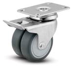 1MC-DW MedCaster Series <br>Dual Wheel Casters