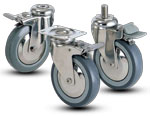 FOOD INDUSTRY CASTERS 2J-SS SERIES CASTER DURARO STAINLESS STEEL CASTERS