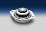 LPBT-1 LOW-PROFILE, 2-HOLE, FLANGE-MOUNTED, ALL-STEEL BALL TRANSFER