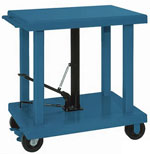 Powered Lift Tables with Acorn™ Casters and Nylacron™ Wheels